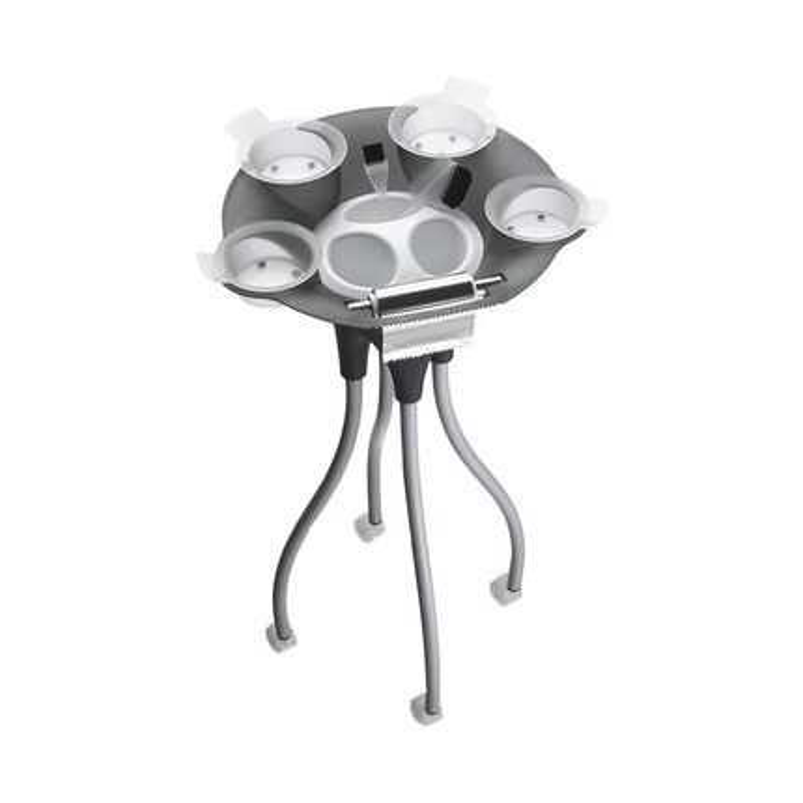 Pojízdný stolek JELLY FISH černo-bílý G202 | Uki