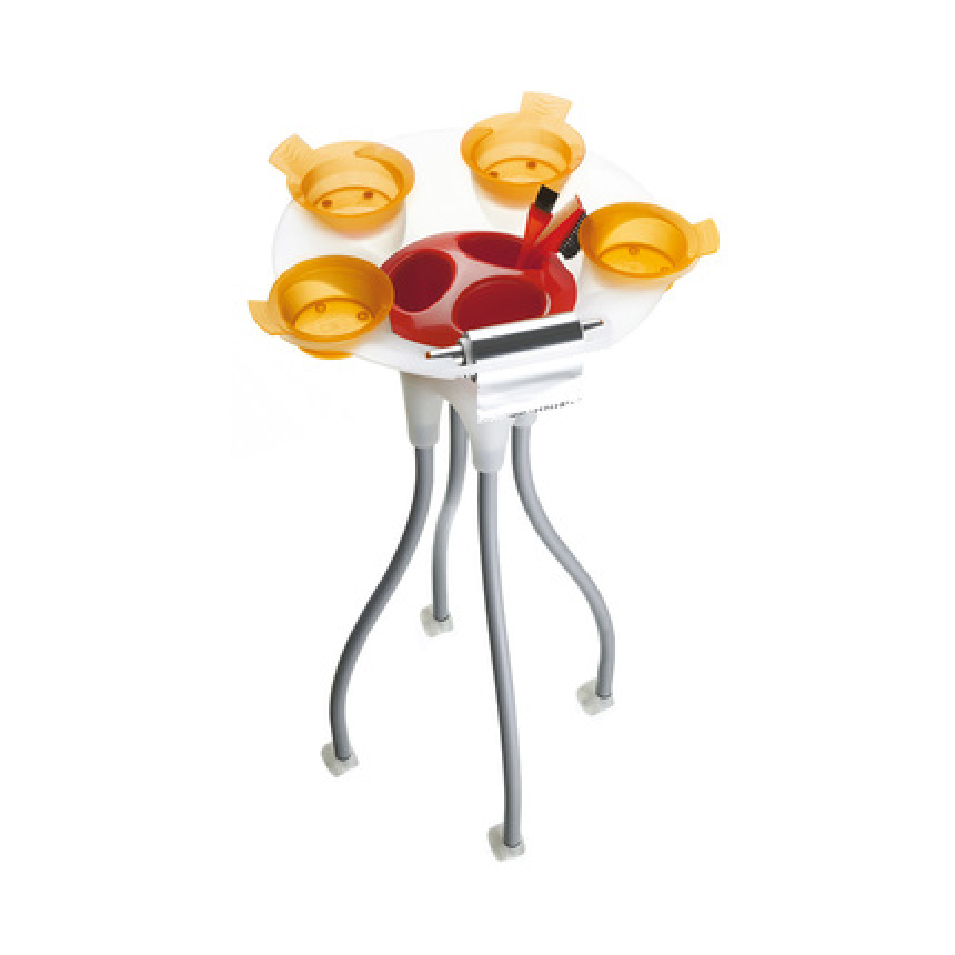 Pojízdný stolek JELLY FISH oranžový O203 | Uki