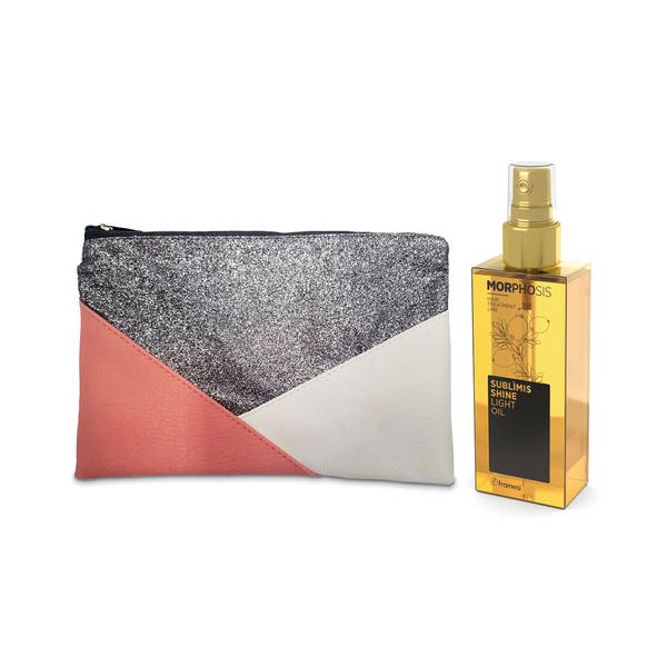 Lehký arganový olej SUBLIMIS SHINE LIGHT 125 ml + dárek kosmetická taštička Framesi Pochette