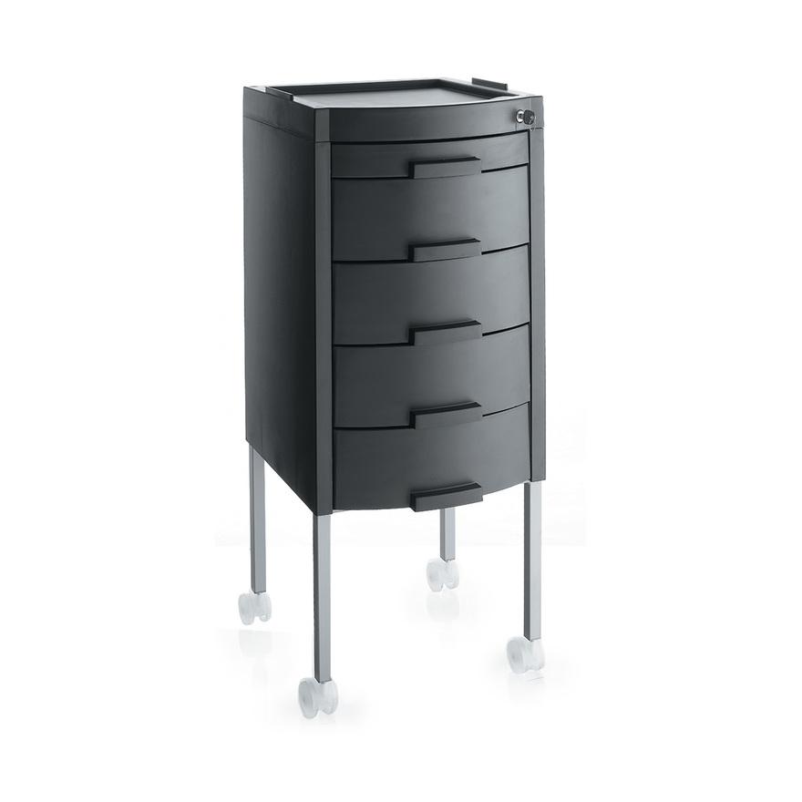 Černý stylingový vozík uzamykatelný MANHATTAN KEY | Uki