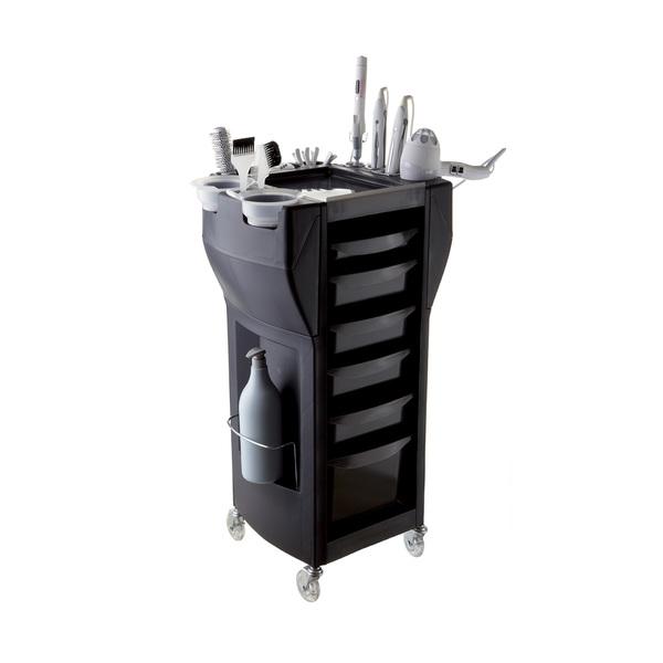 Kombinovaný vozík pro styling i barvení UP GRADE MIX - tmavě šedá | Uki