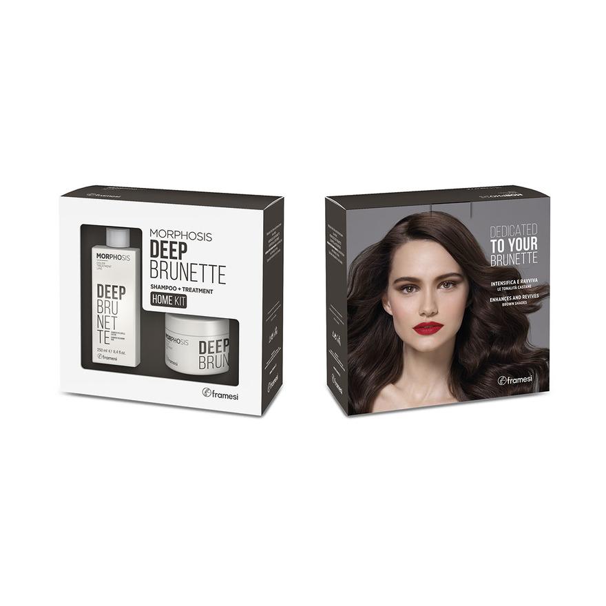 Kit pro hnědé vlasy Deep Brunette šampón 250 ml a maska 200 ml