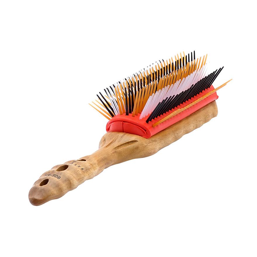 Měkký teakový kartáč Pro Wood YS-508  9 řad štětin