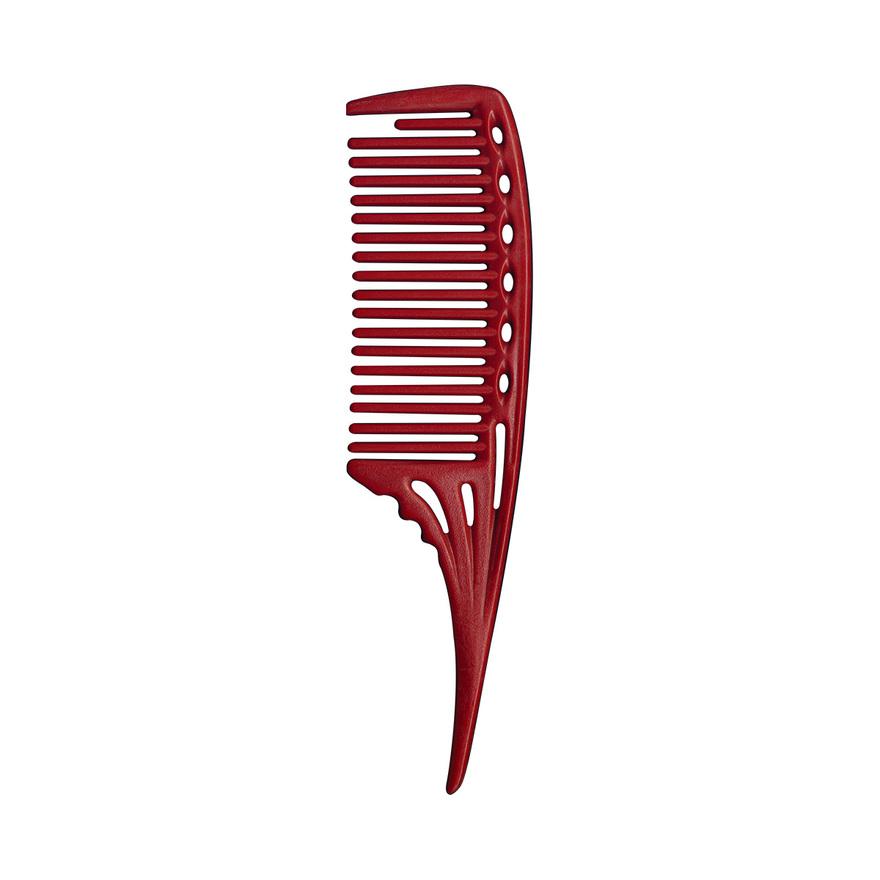 Hřeben pro mytí a barvení vlasů se špičkou YS-603 | 220 mm - červený