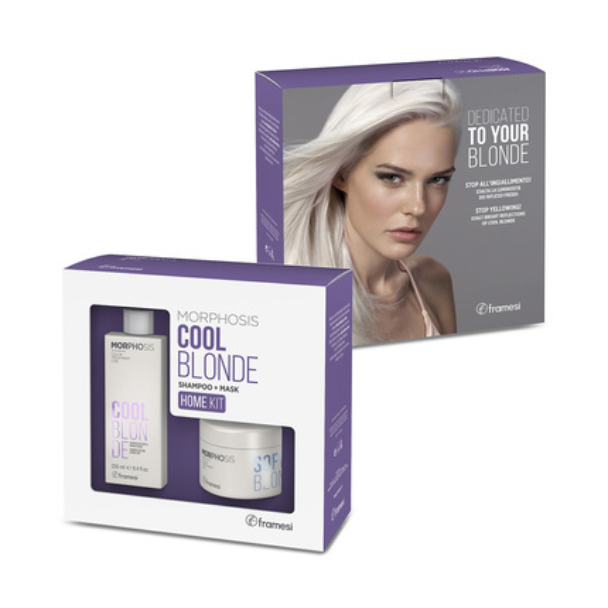 KIT Morphosis BLOND pro domácí péči  | šampón Cool blonde 250ml + maska Soft blonde 200 ml