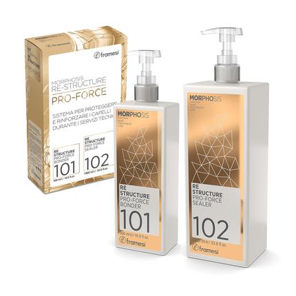 Systém pro ochranu a rekonstrukci vlasů KIT PRO FORCE  Bonder 500 ml + Sealer 1000 ml