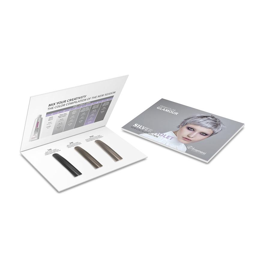 Vzorník barev Framcolor Glamour Silver Violet Chart
