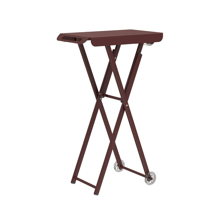 Pojízdný barvicí stolek JUST COLOR   barva vínová